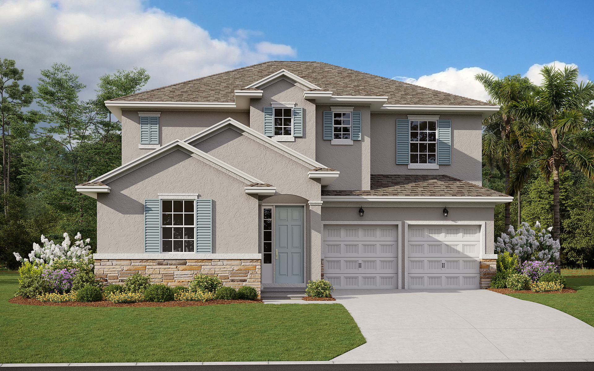 Rivington Biscayne With Stone Elevation A