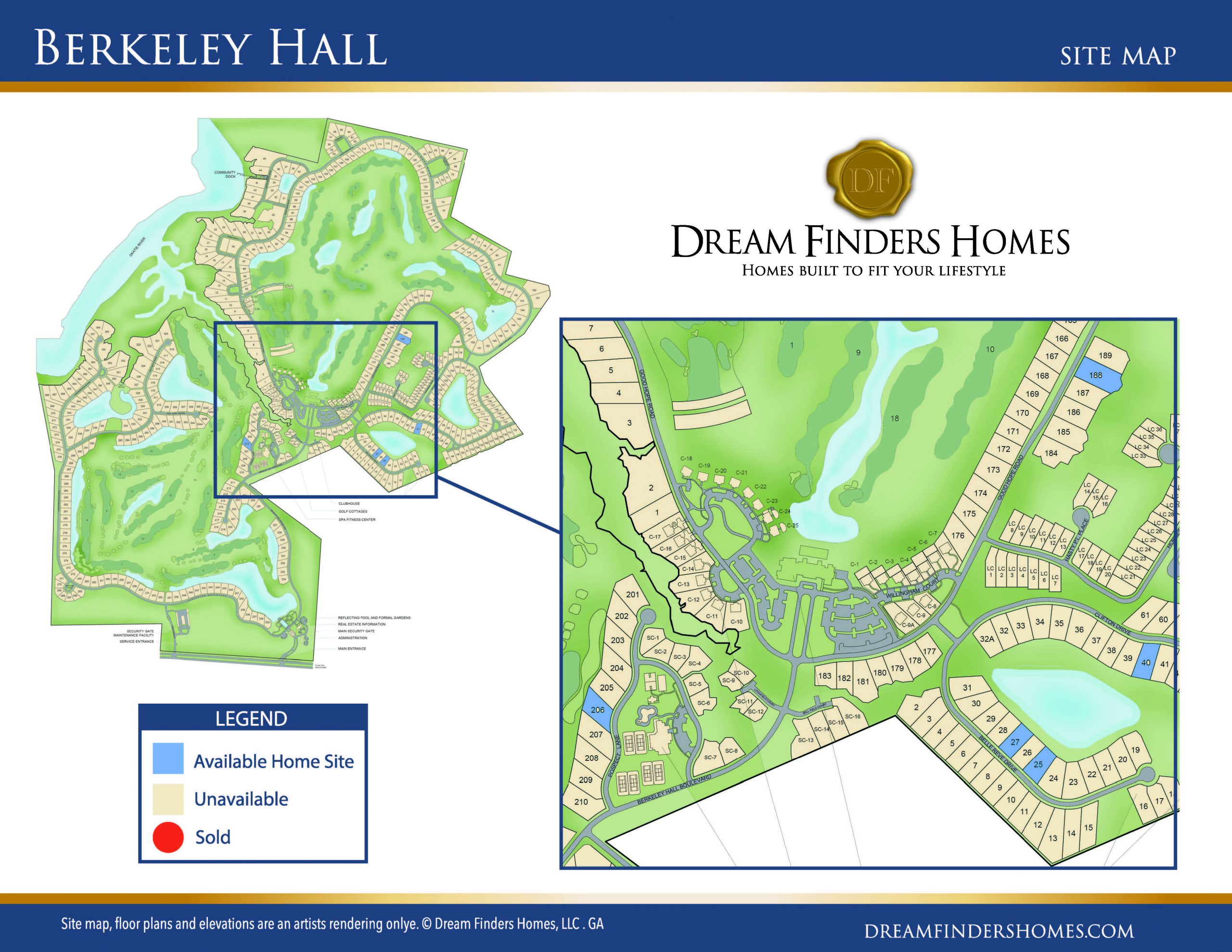 DFH Berkeley Hall Site Plan Collateral 01